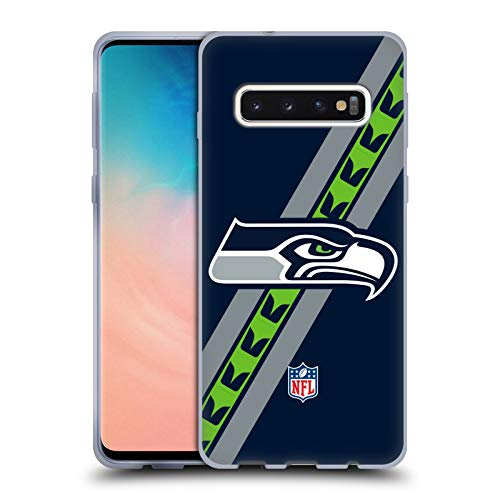 Head Case Designs Offizielle NFL Streifen Seattle Seahawks Logo Soft Gel Huelle kompatibel mit Samsung Galaxy S10