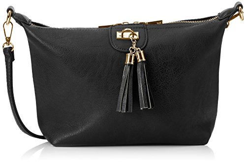 Swanky Swans - Caprice Shoulder Bag, Borse a tracolla Donna Nero (Black)