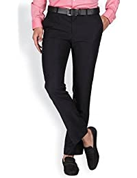 Try This Men's Viscose Regular Fit Wrinkle-Free Formal Trousers