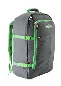 Cabin Max Metz Flugzugelassenes Backpack Groß leichtgewicht Handgepäckstück 55x40x20cm (Black/Green)