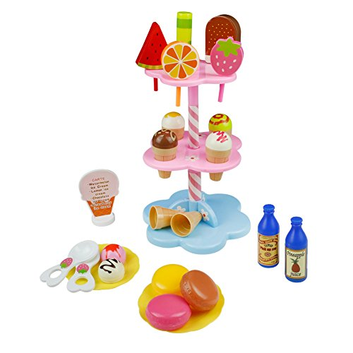 22 piece ice cream toy set