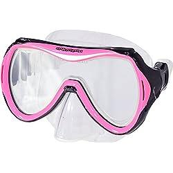 AQUAZON Lunettes de plongée/Lunettes de plongée au Tuba/Lunettes de Piscine Monaco, Masque idéal pour Les Adultes, Dames et Messieurs, Couleur:Pink