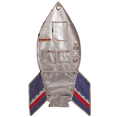 Colorique Apollo Murale Storagebag Rocket, 100 x 50 cm, Argent