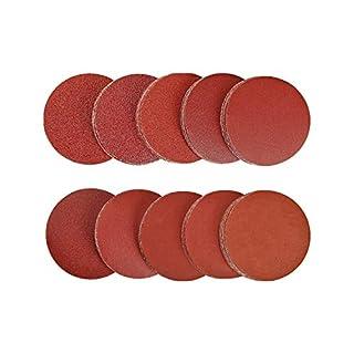 SPTA 200tlg 50mm 40-2000 Schleifscheiben Klett-Schleifpapier Klett-Schleifblätter Schleifpapiere Exzenter-Schleifer Körnung Körnung, je x20, für Exzenterschleifer/Multischleifer zu Schleifen/Polieren