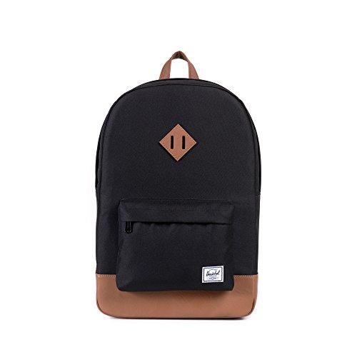 Herschel Heritage Backpack Rucksack, 21 Liter, Schwarz/Tan (Tasche Notebook Heritage)
