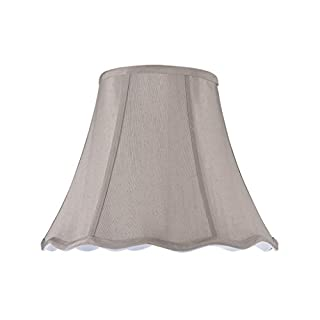 Aspen Creative 34004 Transitional Scallop Bell Shape Spider Construction Lamp Shade in Taupe, 14