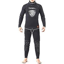 Bulary 5MM Sunblock Surf Combinaison De Plongée Costume À Manches Longues Mergulho Complet Chaleur du Corps Sunblock Surf Combinaison avec Couvre-Tois. Vêtements pour Hommes