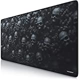 CSL-Computer Titanwolf XXL Speed Gaming Mauspad | 900 x 400mm | XXL Mousepad | Tischunterlage Large Size | mit Titanwolf-Motiv | verbessert Präzision und Geschwindigkeit | Rutschfest | Skull Design