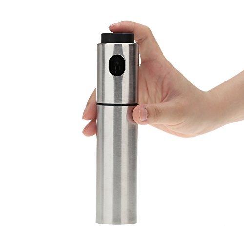 Anself Vaporisateur en acier inoxydable pulvérisateur Huile d'olive vinaigre BBQ pompe de pulvérisation Bouteille Outil de Cuisine