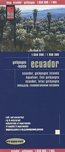 Reise Know-How Landkarte Ecuador, Galápagos (1:650.000 / 1.000.000): world mapping project