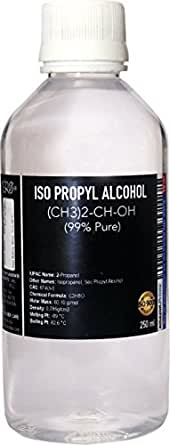 Cero Iso Propyl Alcohol 99 Percent Pure [(Ch3)2-Ch-Oh] Cas: 67-63-0 (250ml), Clear