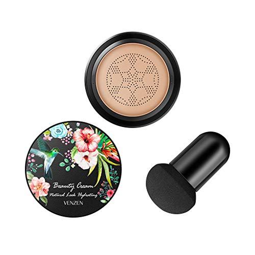 Luccase B.B Creme Foundation Magie Bleaching Anti-Aging Feuchtigkeitsspendende 3-in-1 Luftpolstercreme Concealer Cushion mit Schwamm Make-up Zubehör für Frauen, 15G (B) -