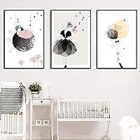 SpirWoRchlan 3er Set Kinderzimmer Babyzimmer Poster Ohne Bilderrahmen  Mädchen Junge Deko Kinderposter Kunstdruck Babyzimmer Bilder Kinderzimmer