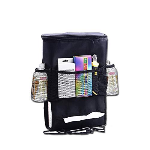 GTETUUES neue multifunktionale Auto Organizer Rücksitz Kühltasche isolierte Autotasche fürGetränkehalter mit Mesh-Aufbewahrungstasche -