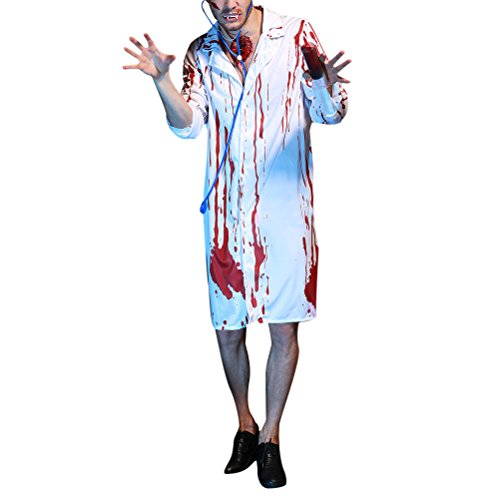 eid Adults Mens Halloween Christmas Cosplay Costume Doctor Uniform Fancy Party Dress Costume Outfit (Teen Hai Kostümen)