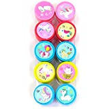 Oytra Unicorn Stamps for Kids | Set of 10 Unicorn Deisgns | Pencil Top