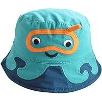 TANGDA Chapeaux de Soleil Protection Bonnet sous-Marin en Coton Bord Vague  Eté Casquette Panama 66cc663ab71