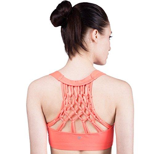 JFIN Femmes Pull Bra Nylon Fermeture à Glissière Avant Actif La Couleur De La Chair Indy Pro Pink