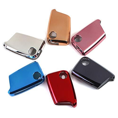 Viviance Weiches TPU Car Remote Smart Key Case/Taschencover Mit Keypad Film Für Vw Tiguan Golf GTI Octavia - Das Schwarz
