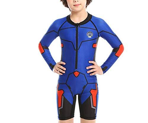 SQY Kinderbadekleidung Jungen und Mädchen verbunden Sonnenschutz Taucher Anzug professionelle Ausbildung Badeanzug Sonnenschutzmittel Surfkleidung