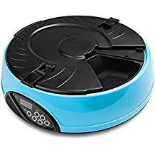 Pet Feeder, C'est intelligente sano Pet Semplicemente griffa alimentatore automatico 6 Pasti digitale a cristalli liquidi a tempo alimentatore automatico dell'animale domestico Auto Dog Cat Food Bowl Dispenser (blu) - Feeding Accessori