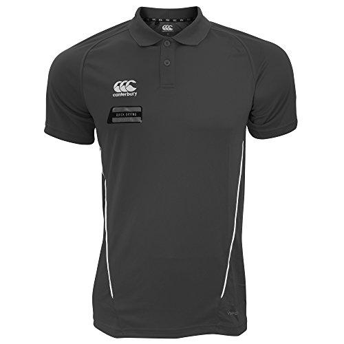 Canterbury Herren Team Dry Moisture Wicking Polo Shirt (3XL) (Schwarz/Weiß) (Wicking Polo-shirt Männer)