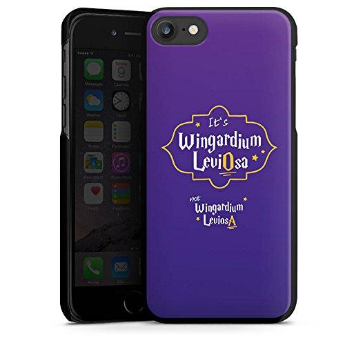 Apple iPhone X Silikon Hülle Case Schutzhülle Wingardium Leviosa Harry Potter Zauberspruch Hard Case schwarz
