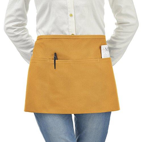 1e82bb330b0 Delantal de cintura de 3 bolsillos. Polialgodón durable hilado.