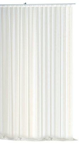 Voile Dekoschal Gardine Emotion weiß 300x245 cm Organza Vorhang Kräuselband klassisch transparent...
