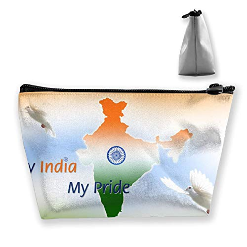 My Indian My Pride Cosmetic Makeup Bag/Pouch/Clutch Travel Case Organizer Storage Bag for Women¡¯s Accessories Toiletry Beauty,Skincare Travel Accessory - Stoff 9 Pocket Organizer