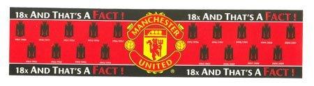Man Utd F.C. Window Sticker 18 Times Champions