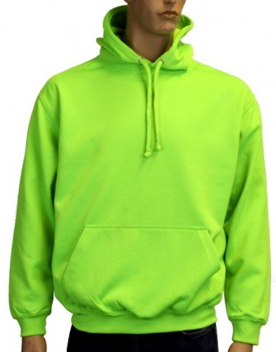 Coole-Fun-T-Shirts Herren Neon Sweatshirt mit Kapuze floureszierend, neongreen, XL, 10811_neongreen_GR.XL (T-shirt Cooles Grünes)