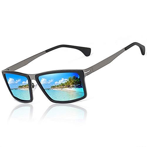 WULE-RYP Polarisierte Sonnenbrille mit UV-Schutz Polarisierende Sonnenbrillen des Fahrens der Männer, Bunte Gläser, UV400 Schutz. Superleichtes Rahmen-Fischen, das Golf fährt (Farbe : Blau)