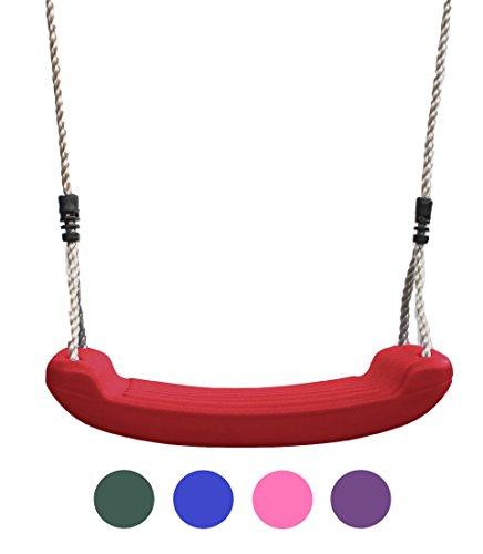 HIKS® Deluxe rot Kinder Garten Schaukel Sitz mit verstellbare Seile im lieferumfang enthalten ideal für Schaukel Sets und klettergerüsten (auch in grün und blau erhältlich)