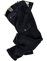 Club of Comfort - Herren Hose mit Cargo Taschen und Stretch Einsatz in Braun oder Blau, Tamme (6400)