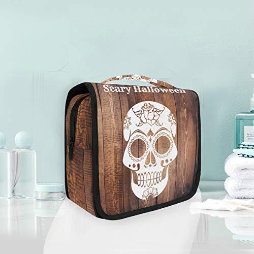 Make-up Kosmetiktasche Schädel Muster Scary Halloween Portable Storage Reise Kulturbeutel