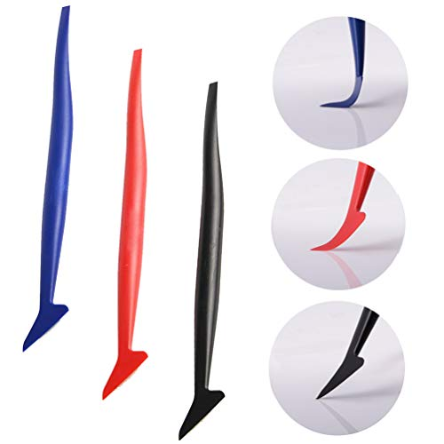 Kaiying Wrap Vinyl Graphics 3 pcs Micro Squeegee Application Tucking Molding Tools for Film The Smallest Spaces Squeegee Blade Set