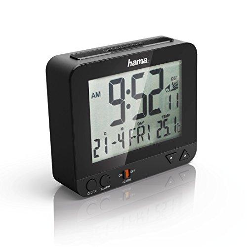 Hama Funk Wecker RC550 – sensorgesteuerte Nachtlichtfunktion, Schlummerfunktion, Temperatur- und Datumsanzeige - 3