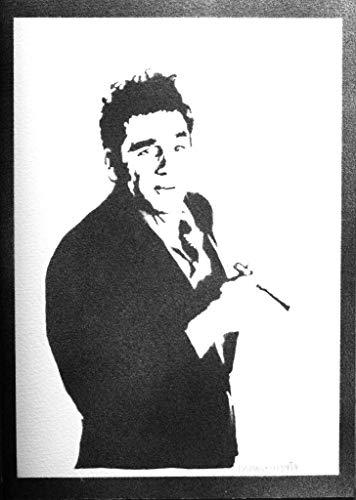 Cosmo Gerahmt (Cosmo Kramer - Seinfeld Poster Plakat Handmade Graffiti Street Art - Artwork)