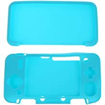 C2K Silicone Grip Case Cover Protector For Nintendo NEW 2DS XL/ LL Console Blue