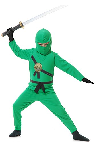 Child Green Ninja Fancy Dress Costume X-Small (4-6) (Green Ninja Ninjago Kostüm)