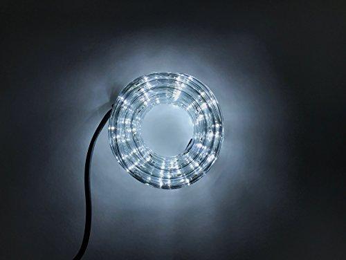 Lichtschlauch Led Für Innen und Außen Lichterschlauch 5 Meter Weiß mit 120 Led Lichterkette Garten 120 Weiße Led