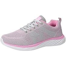 ZARLLE Zapatillas de Deporte Mujer Mujer Deporte Running Zapatos para Correr Gimnasio Sneakers Deportivas Padel Transpirables