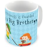 Illuminati Gifts This Princess Is Guarded By A Big Brother Special Design Quote Printed Multicolor Ceramic Coffee Mug - 325 Ml Rakhi Raksha Bandhan Gift For Sister, Rakshabandhan Return Gift For Sister