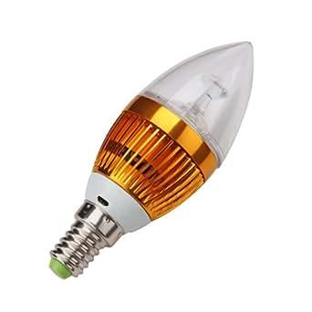 4 X E14 Ampoule Lampe Spot 3 LEDs Blanc Chaud 3600K 6W
