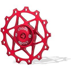 Chooee 13T Rojo Rear Derailleur Jockey Polea de Rueda para Shimano SRAM