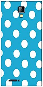 Snoogg Blue Polka Dot Designer Protective Back Case Cover For Micromax Canvas Express A99