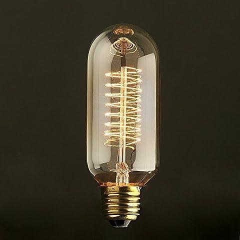 Lampadina a Incandescenza Edison 60W - Valvola Radio con Spirale 45mm Design Retro Vintage E27