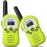 FLOUREON Kids Walkie Talkies 2 Way Radio Up to 2 Miles Range 8 Channel Twins Handheld Interphone for Outdoor Adventures Riding Hiking Camping