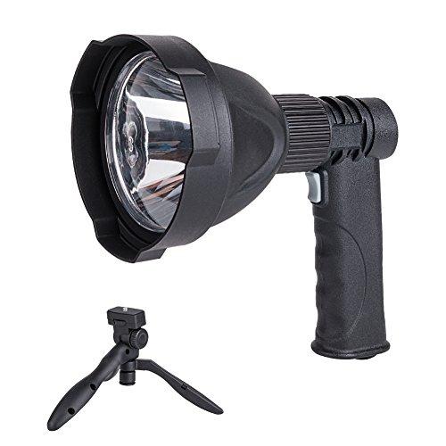 Coquimbo Wiederaufladbare LED Handscheinwerfer 3 Lichtmodi Handlampe Wasserdicht Strahler Arbeitsleuchte mit Tretlager ideal für Camping Outdoor USB-Ladekabel Inklusive